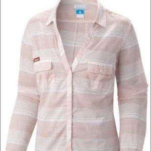 Longhorns Striped Long Sleeve Womens Shirt